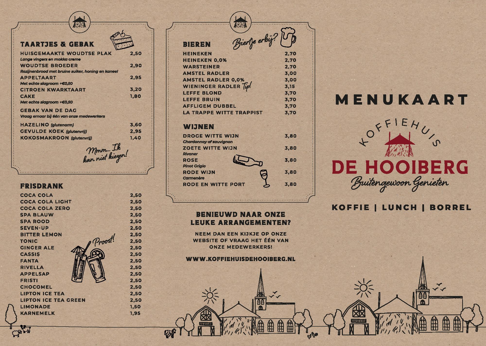 Menukaart De Hooiberg